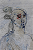 Alice Kettle, 'Eve, Cotton Slave' (detail), thread on table cloth, 120cm x 120cm, 2011, photo: Joe Low